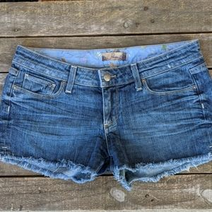 Paige Daryn denim cut off short shorts size 28